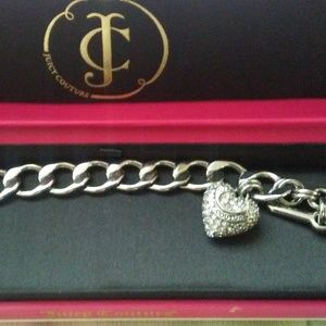 JUICY COUTURE PUFFED HEART SILVER STARTER BRACELET
